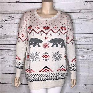 Repartee XL Christmas Polar Bear Argyle Sweater